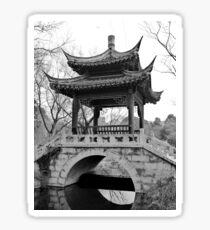 Chinese Pavilion - bw Sticker