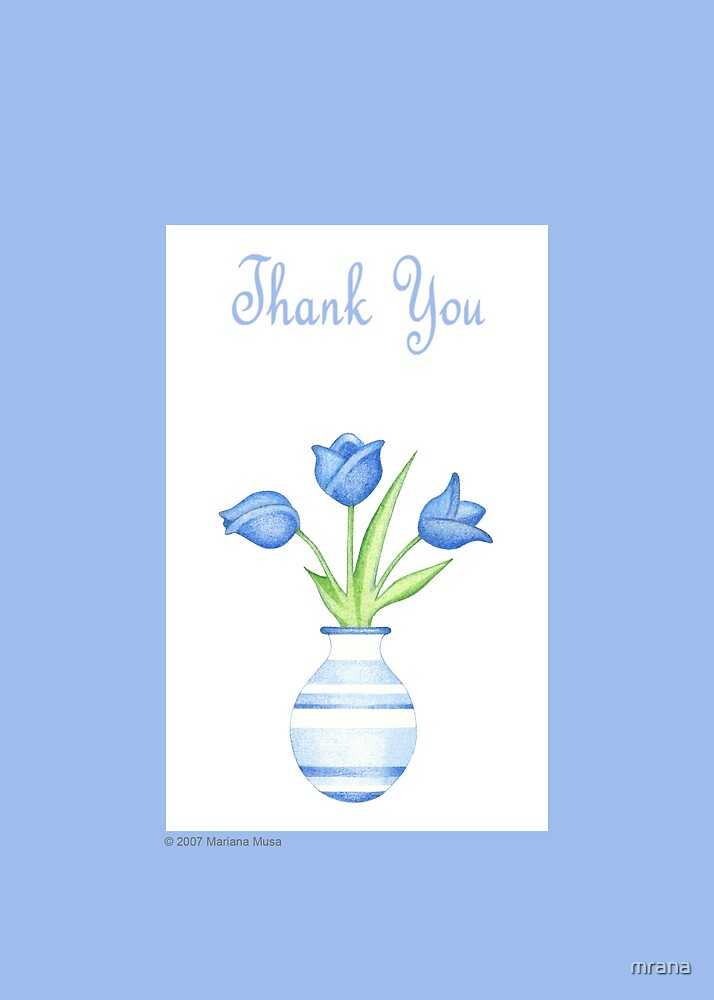 Blue Vase Thank you by Mariana Musa