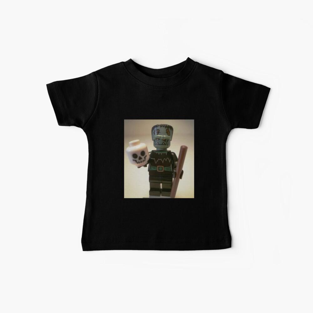 Frankensteins Monster Custom Minifigure with Skull Baby T-Shirt