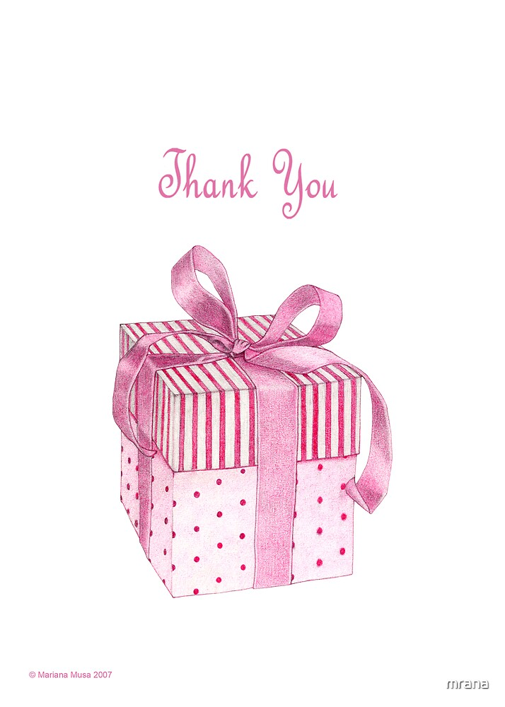 Pink Gift Thank You by Mariana Musa
