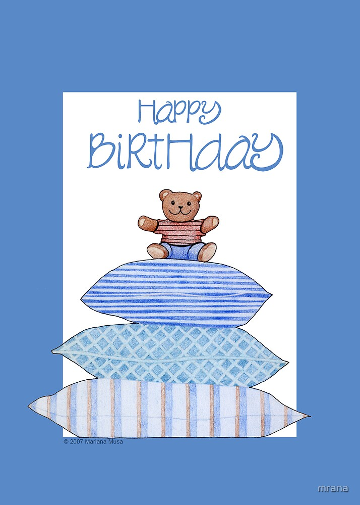 Teddy Bear and Cushions Birthday by Mariana Musa