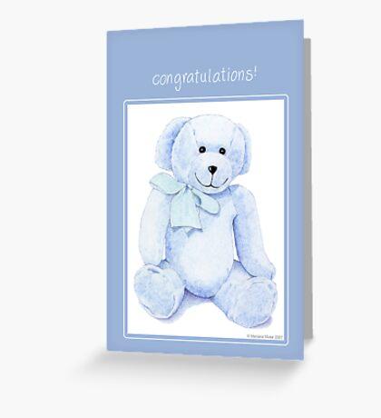 Blue Bear Congratulations Greeting Card