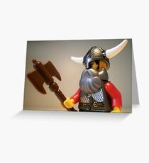 Viking Warrior with Custom Battle Axe Greeting Card