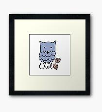 Cute cartoon owls Framed Print