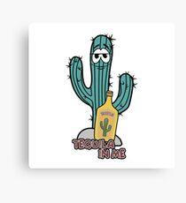 Cactus, tequila lover Canvas Print