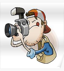 Funny photographer Poster