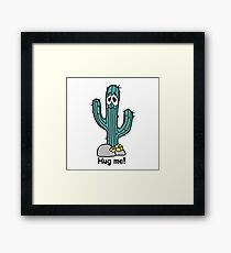 Cactus hugs Framed Print