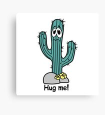 Cactus hugs Canvas Print
