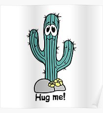 Cactus hugs Poster