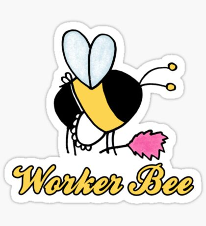 Worker Bee - cleaner/maid Sticker