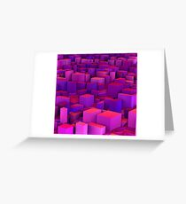 Purple Blocks Greeting Card