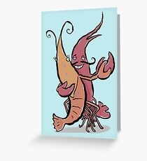 swaying lobsters Greeting Card