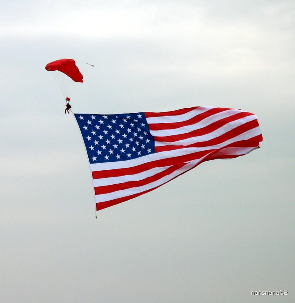 American Flag Skydiver  by nansnana62