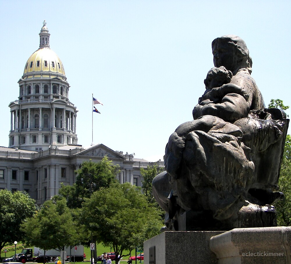 Denver Capitol Building & Fountain by eclectickimmer