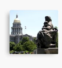 Denver Capitol Building & Fountain Canvas Print
