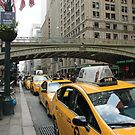 Yellow cabs by Grand Central Station by joelmeadows1
