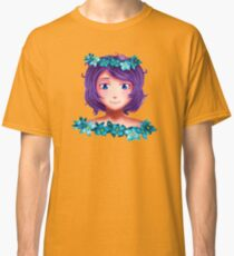 Girl with lilac hair Classic T-Shirt