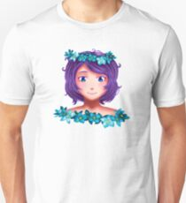Girl with lilac hair Unisex T-Shirt
