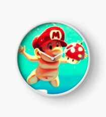 "Mario's disk ""Nevermind"" Clock"