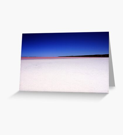 Port Gregory Pink Lake  Greeting Card