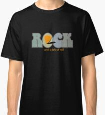 Rock And A Bit Of Roll - Cool Funny Music Design Classic T-Shirt