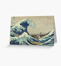 The Great Wave of Hyrule Greeting Card