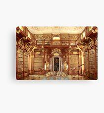 The Monastery Library, Melk, Austria Canvas Print