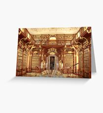 The Monastery Library, Melk, Austria Greeting Card