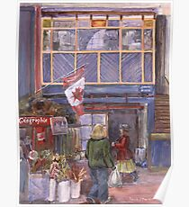 Saint John City Market (with Canada Flag) Poster