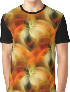 Orange And Cream Abstract Fantasy Graphic T-Shirt