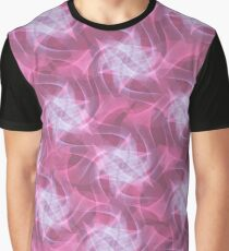 Pink abstract fibre pattern Graphic T-Shirt