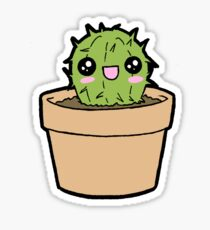 Happy Cactus Survives Alone! Sticker