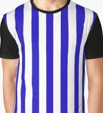 Deep blue marine stripes pattern, vertical lines Graphic T-Shirt