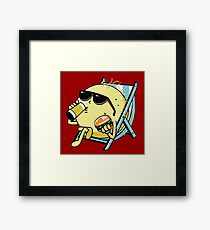 Drink beer and eat donuts Framed Print