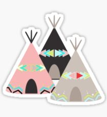 Girly Teepees Sticker