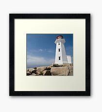 Peggys Cove Lighthouse Framed Print