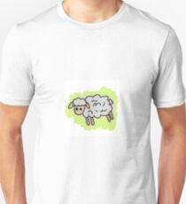 Green background Sheep T-Shirt