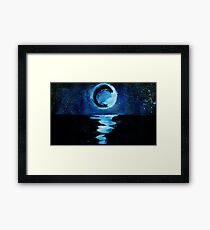 Moon On the Deep Blue Sea Framed Print