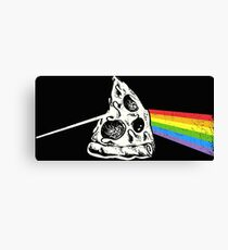 Dark Side Of The Pizza Canvas Print