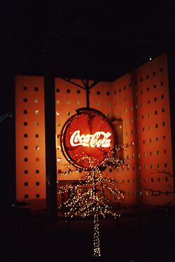 coke christmas tree by alban