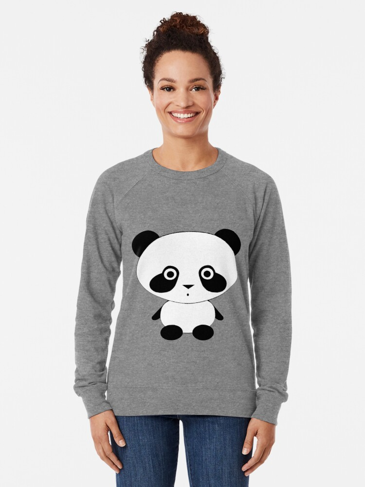 Alternate view of Cute Panda Bear Lightweight Sweatshirt