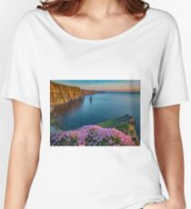 cliffs of moher sunset county clare ireland Women's Relaxed Fit T-Shirt
