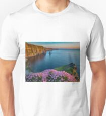 cliffs of moher sunset county clare ireland T-Shirt