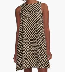 Black and Desert Mist Polka Dots A-Line Dress