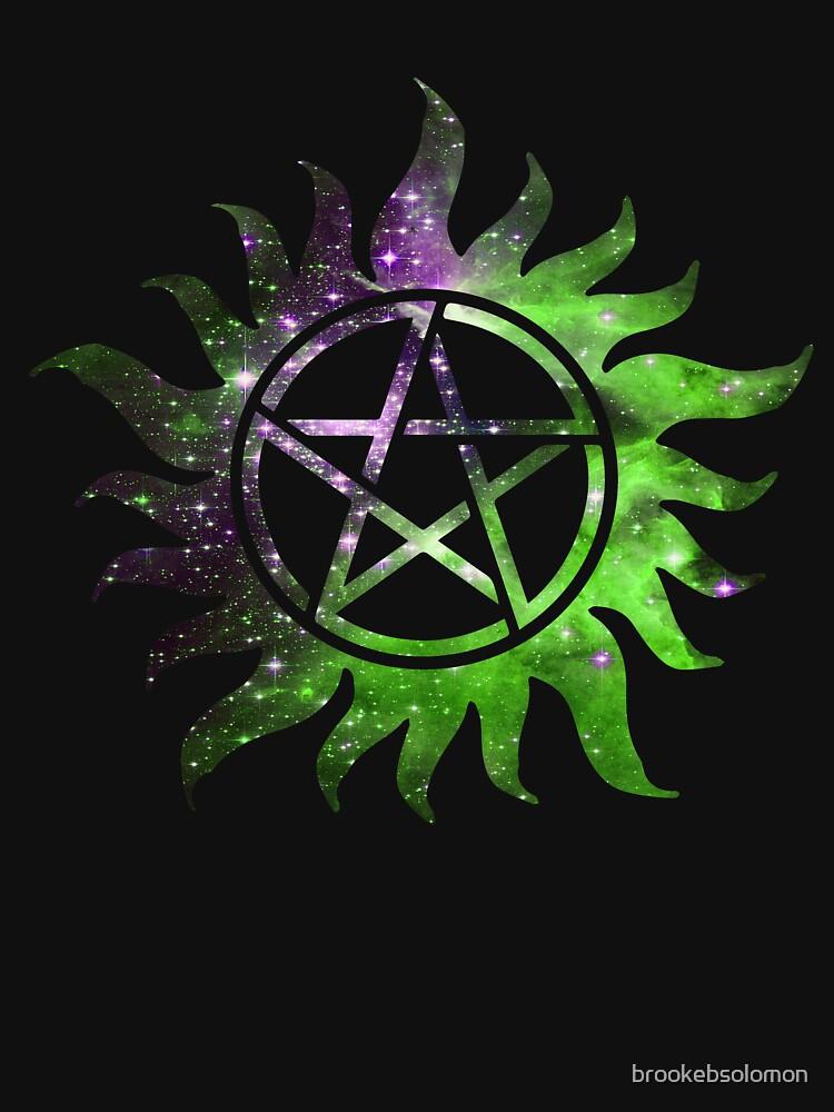 Supernatural Anti Possession Tattoo Green Galaxy Womens Fitted