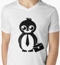 Business Penguin V-Neck T-Shirt