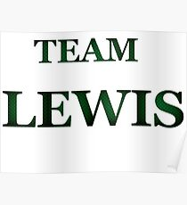 Team Lewis Poster