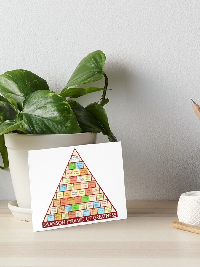 photograph regarding Ron Swanson Pyramid of Greatness Printable Version identify Ron Swanson Pyramid of Greatness Artwork Board Print