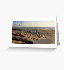 Zeilboten op het strand Greeting Card