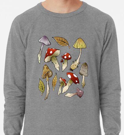 Mushroom Sticker-pack Lightweight Sweatshirt